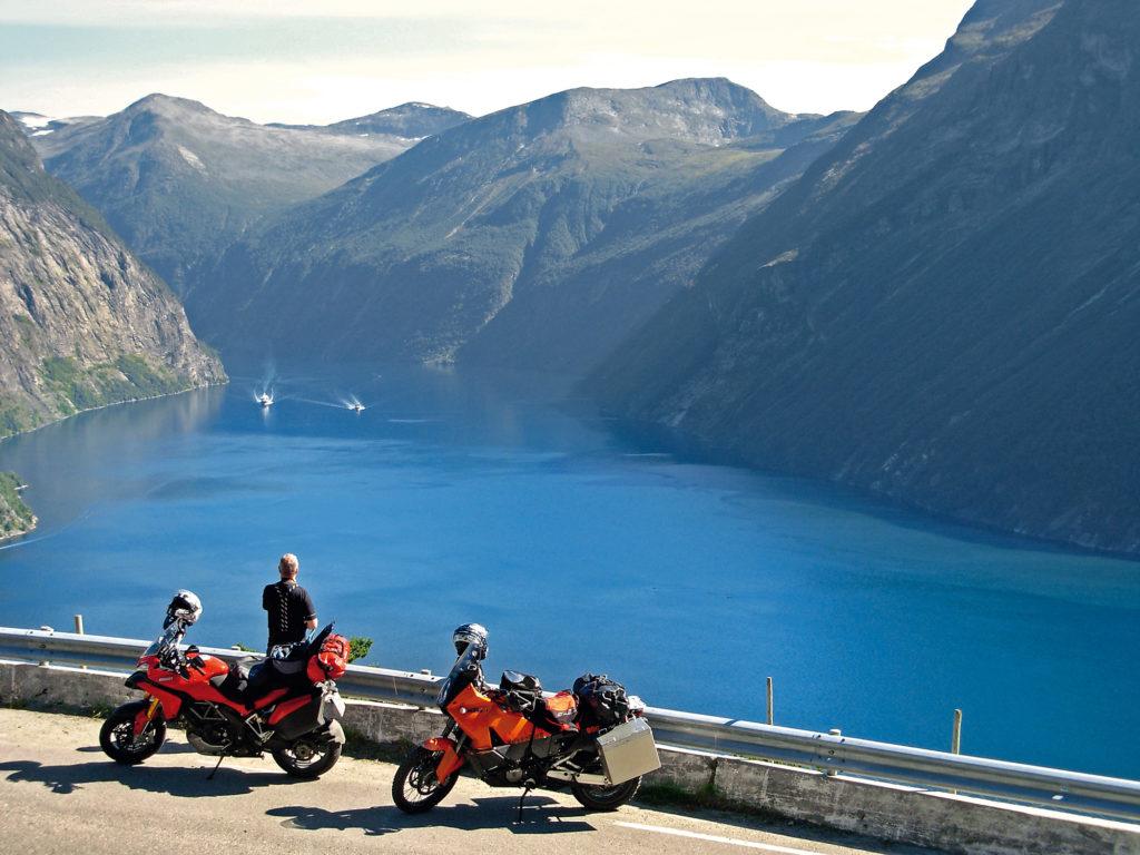 Pause bei einer Motorradreise in Norwegen