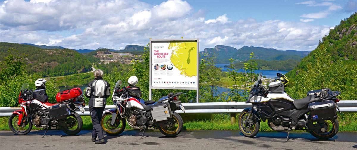 Pause bei einer Motorradtour in Norwegen
