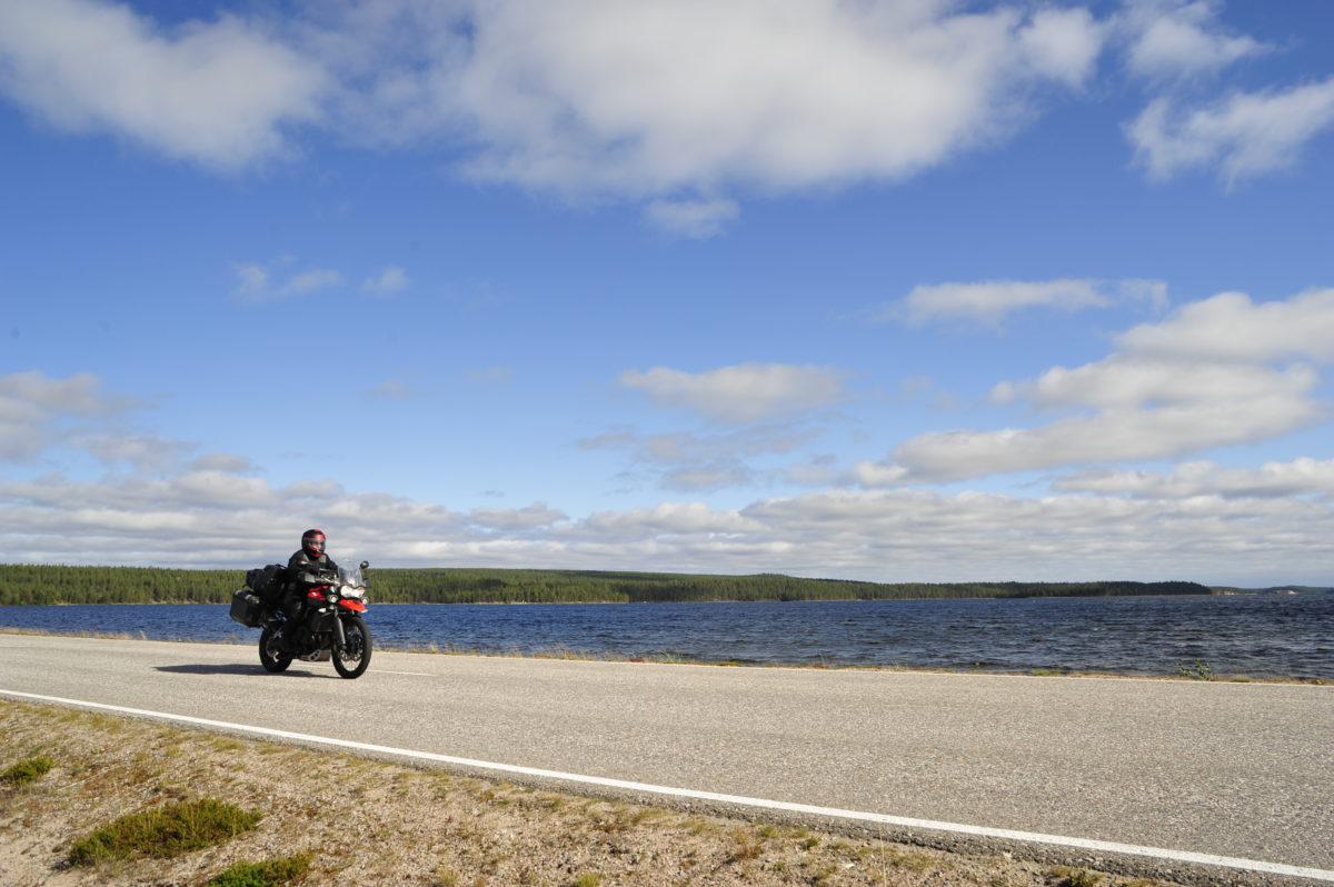 Motorrad unterwegs zum Polarkreis
